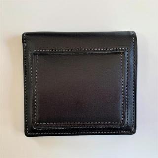 カードがたくさん入るのに薄い手の平財布(BOX小銭入れ付) BS03  ブラック【5月中旬】