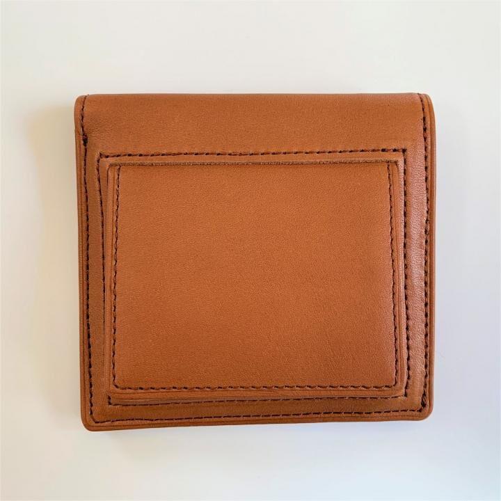 カードがたくさん入るのに薄い手の平財布(BOX小銭入れ付) BS03  キャメル_0