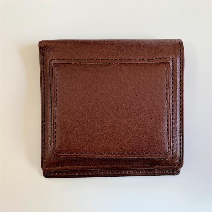 カードがたくさん入るのに薄い手の平財布(BOX小銭入れ付) BS03  チョコ【10月上旬】_0