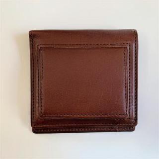 カードがたくさん入るのに薄い手の平財布(BOX小銭入れ付) BS03  チョコ
