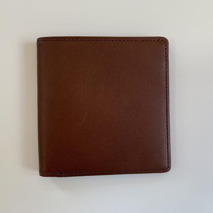 カードがたくさん入るのに薄い手の平財布 BS02 チョコ_0