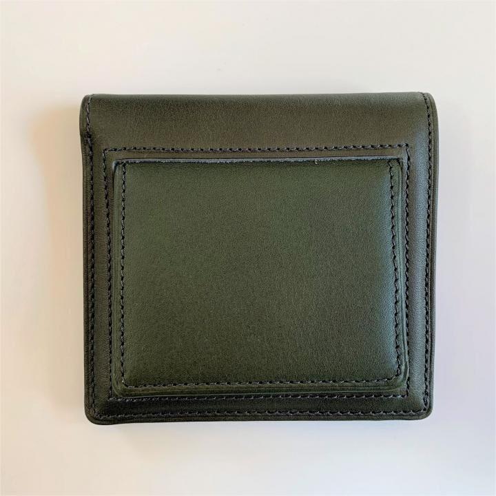 カードがたくさん入るのに薄い手の平財布(BOX小銭入れ付) BS03  グリーン_0