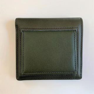 カードがたくさん入るのに薄い手の平財布(BOX小銭入れ付) BS03  グリーン