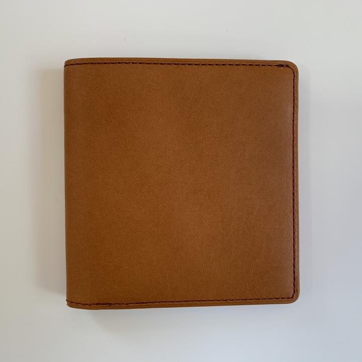 カードがたくさん入るのに薄い手の平財布 BS02 キャメル_0