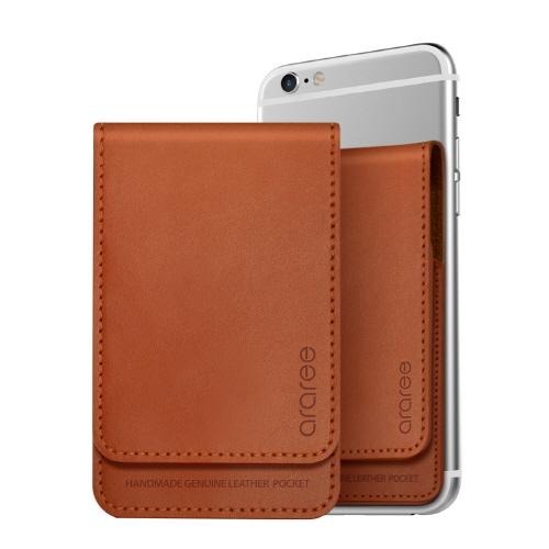 シール型カードポケット Stick Wallet ブラウン