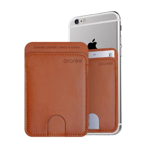 シール型カードポケット Stick Pocket ブラウン