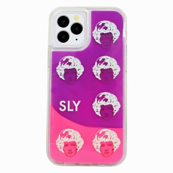 SLY ネオンサンドケース face ピンク×紫 iPhone 12 Pro Max_0