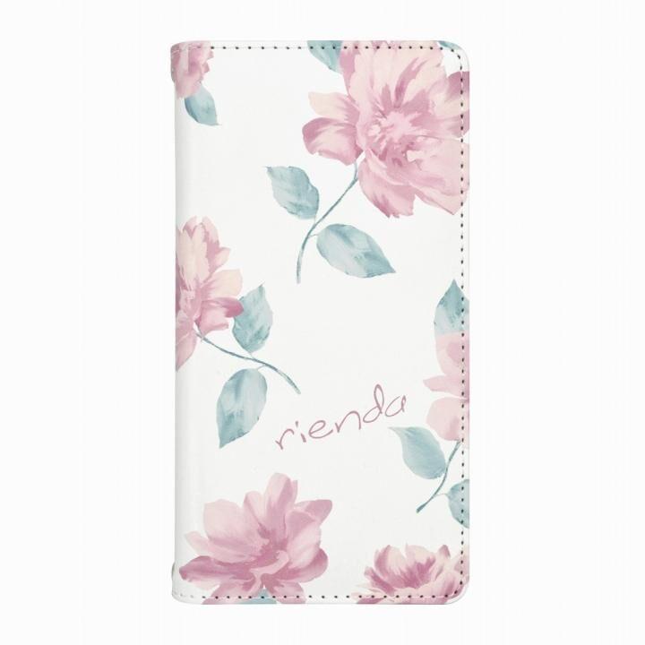 rienda プリント手帳型ケース Lace Flower ホワイト iPhone 12 mini_0