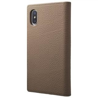 【iPhone XSケース】GRAMAS Shrunken-calf フルレザー手帳型ケース トープ iPhone XS/X