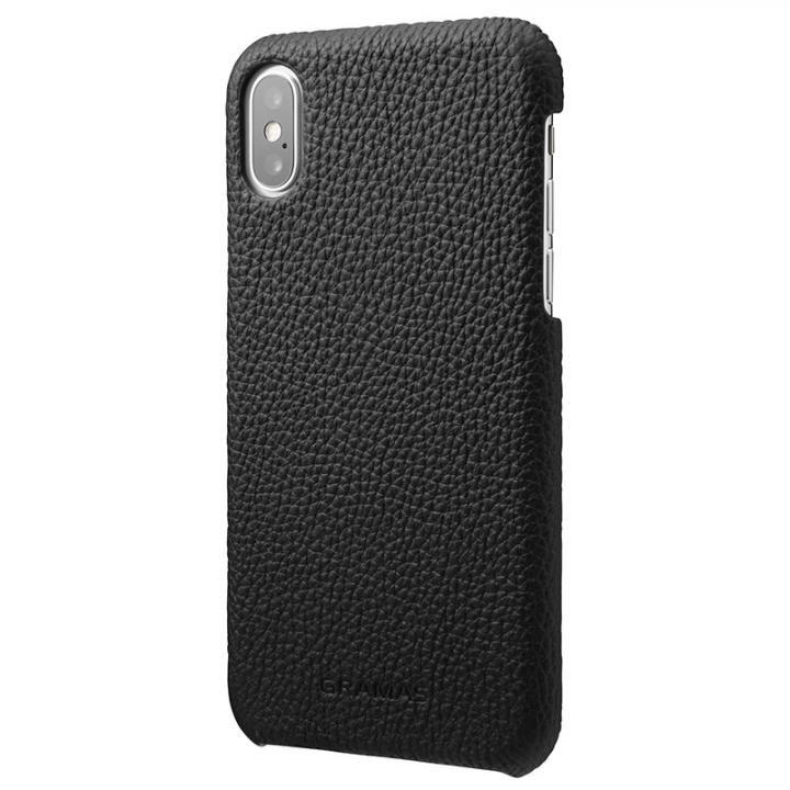 GRAMAS Shrunken-calf レザーケース ブラック iPhone X