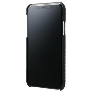 【iPhone XS/Xケース】GRAMAS Shrunken-calf レザーケース ブラック iPhone XS/X_1