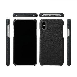 【iPhone XS/Xケース】GRAMAS Shrunken-calf レザーケース ブラック iPhone XS/X_2