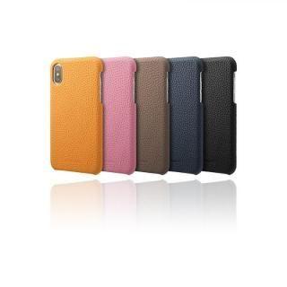 【iPhone XS/Xケース】GRAMAS Shrunken-calf レザーケース ブラック iPhone XS/X_3
