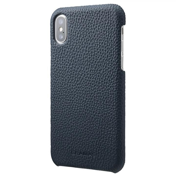iPhone XS/X ケース GRAMAS Shrunken-calf レザーケース ネイビー iPhone XS/X_0
