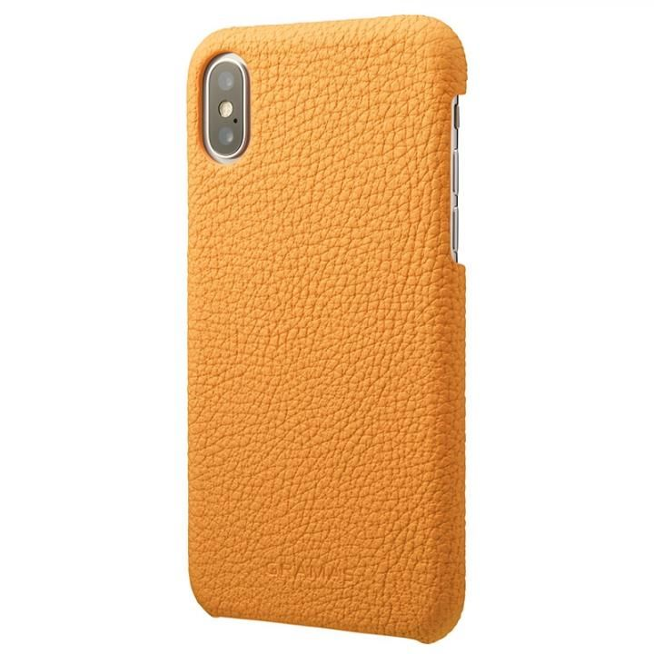 iPhone XS/X ケース GRAMAS Shrunken-calf レザーケース イエロー iPhone XS/X_0