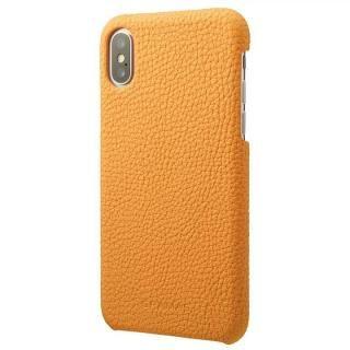 GRAMAS Shrunken-calf レザーケース イエロー iPhone X