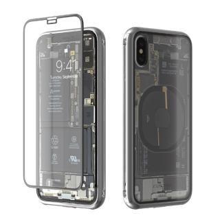 【iPhone Xケース】Monolith Transparent X シルバー iPhone X