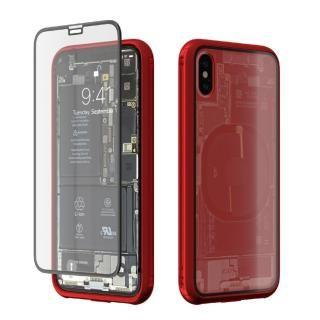 【iPhone Xケース】Monolith Transparent X レッド iPhone X
