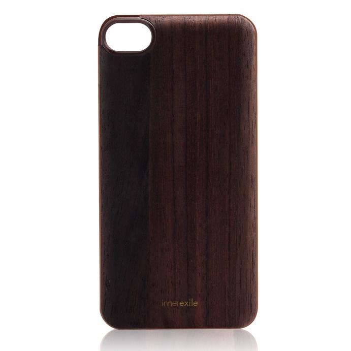 iPhone SE/5s/5 ケース innerexile専用木製バックプレート Stylish ダークブラウン iPhone SE/5s/5_0