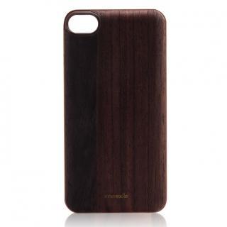 innerexile専用木製バックプレート Stylish ダークブラウン iPhone SE/5s/5