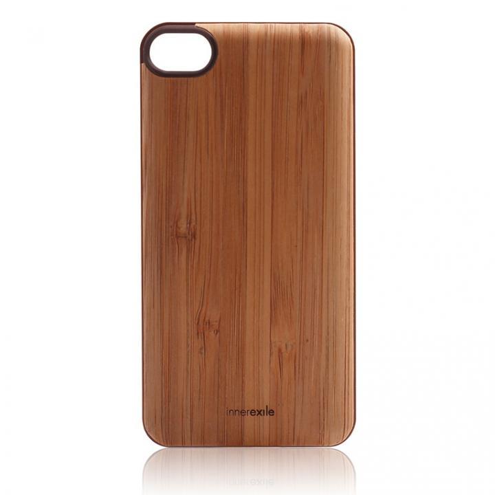 innerexile専用木製バックプレート Stylish E-wallet ライトブラウン iPhone SE/5s/5