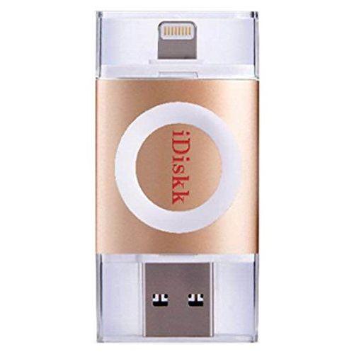 iDiskk フラッシュドライブ MFI認証 USB 3.0 64GB ゴールド_0