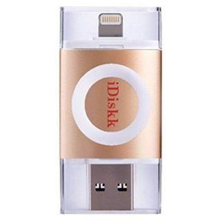 iDiskk フラッシュドライブ MFI認証 USB 3.0 64GB ゴールド