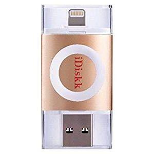 iDiskk フラッシュドライブ MFI認証 USB 3.0 16GB ゴールド