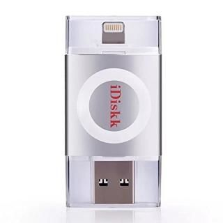 iDiskk フラッシュドライブ MFI認証 USB 3.0 16GB スペースグレー