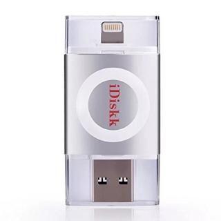 iDiskk フラッシュドライブ MFI認証 USB 3.0 64GB スペースグレー【5月中旬】