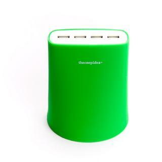 余分なコードを収納できる Jelly 5.1A USB4ポート充電器 グリーン iPhone iPad iPod