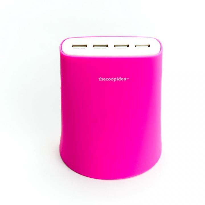 余分なコードを収納できる Jelly 5.1A USB4ポート充電器 ピンク iPhone iPad iPod_0