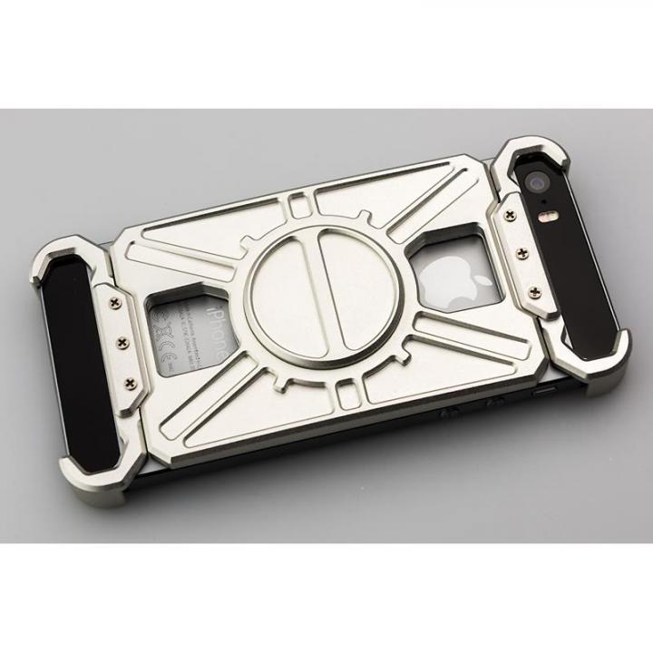 iPhone SE/5s/5 ケース アルミ削り出し プロテクターケース「AQ1」シルバー iPhone SE/5s/5_0