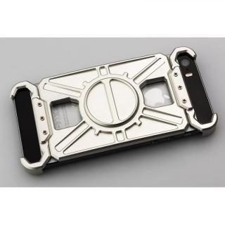 iPhone SE/5s/5 ケース アルミ削り出し プロテクターケース「AQ1」シルバー iPhone SE/5s/5