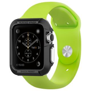 Spigen Apple Watch 42mm ラギットアーマーケース ブラック【3月下旬】