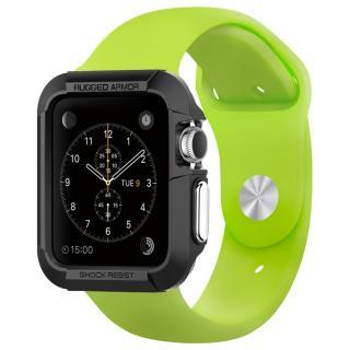 Spigen Apple Watch 38mm ラギットアーマーケース ブラック【3月下旬】