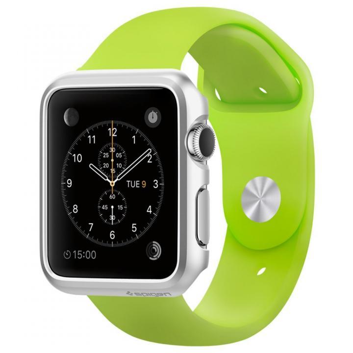 Spigen Apple Watch 42mm 薄型ハードケース シルバー_0