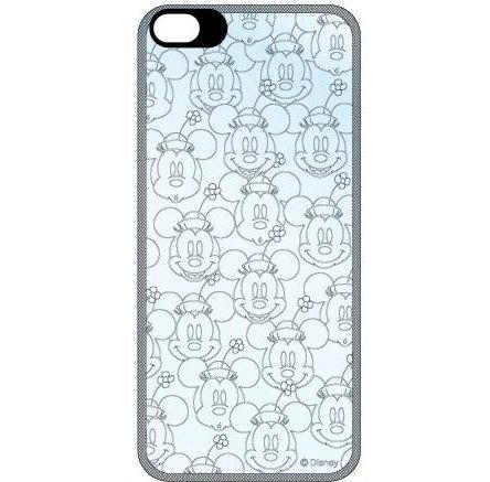 iPhone SE/5s/5 ディズニー フラッシュフィルムiPhone5(ミニーフェイス 総柄)_0