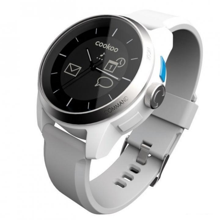 スマートフォン連動腕時計 COOKOO watch ホワイト_0