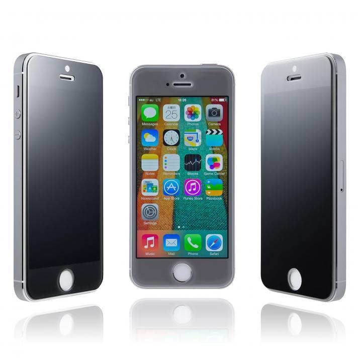 覗き見防止強化ガラス GRAMAS EXTRA 180° iPhone 5s/5c/5 送料無料