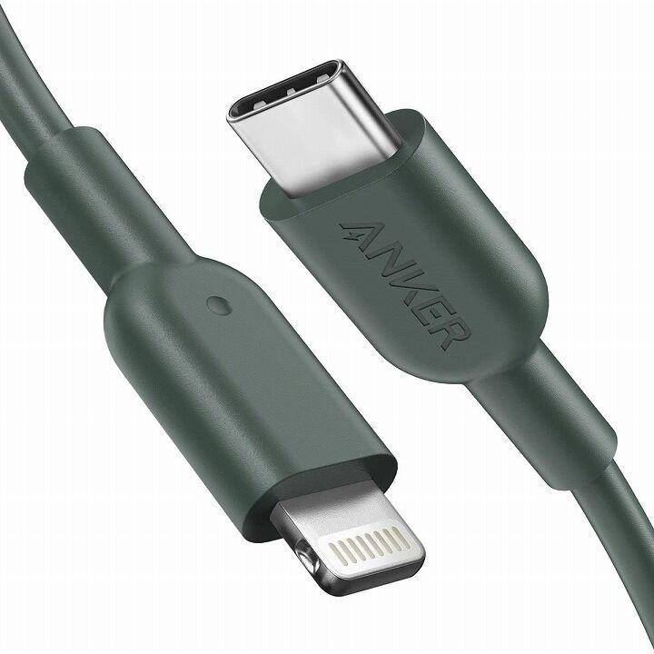 Anker PowerLine II USB-C & ライトニング ケーブル 1.8m グリーン【6月下旬】_0