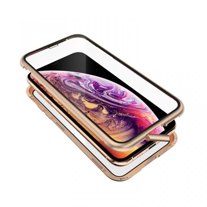 iPhone XS/X ケース Monolith Alluminio 2020(モノリス アルミニオ 2020)/ゴールド ゴリラガラス+アルミバンパー for iPhone XS/X_0