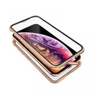 iPhone XS/X ケース Monolith Alluminio 2020(モノリス アルミニオ 2020)/ゴールド ゴリラガラス+アルミバンパー for iPhone XS/X