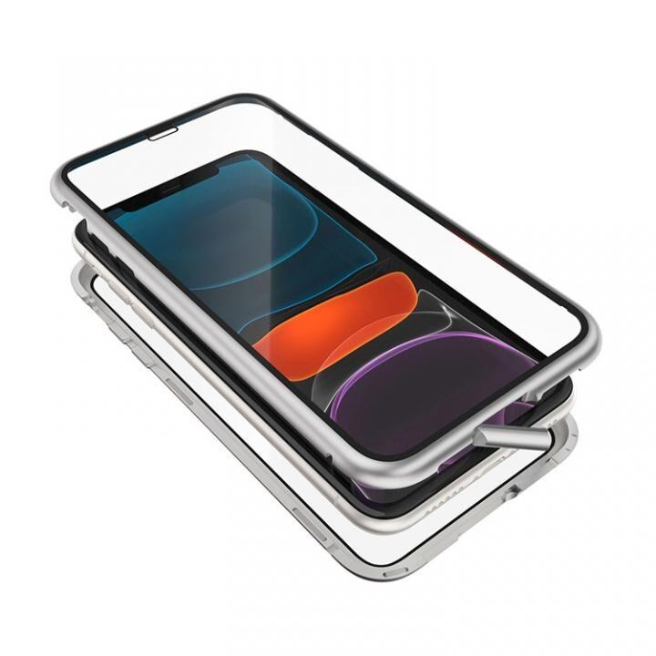 iPhone 11 ケース Monolith Alluminio 2020(モノリス アルミニオ 2020)/シルバー(ホワイト) ゴリラガラス+アルミバンパー for iPhone 11_0
