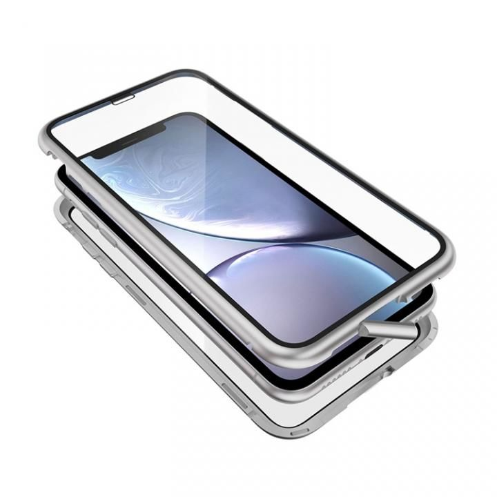 iPhone XR ケース Monolith Alluminio 2020(モノリス アルミニオ 2020)/シルバー(ホワイト) ゴリラガラス+アルミバンパー for iPhone XR_0