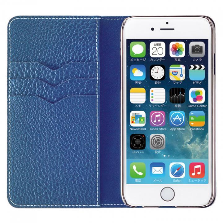 iPhone6 ケース BONAVENTURA ドイツ製本革手帳型ケース ブルー iPhone 6_0
