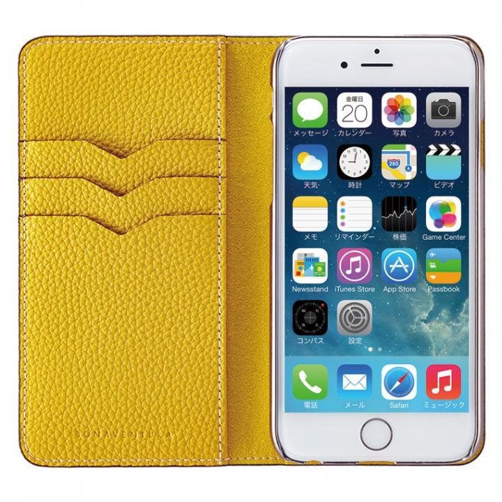 【iPhone6ケース】BONAVENTURA ドイツ製本革手帳型ケース イエロー iPhone 6_0