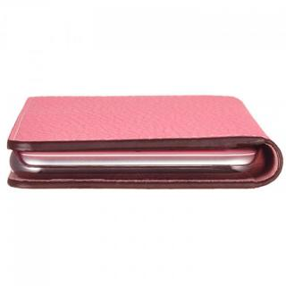 【iPhone6ケース】BONAVENTURA ドイツ製本革手帳型ケース ピンク iPhone 6_5