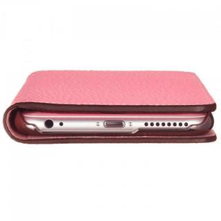 【iPhone6ケース】BONAVENTURA ドイツ製本革手帳型ケース ピンク iPhone 6_6