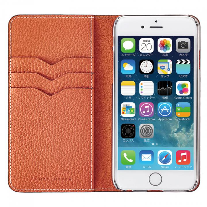iPhone6 ケース BONAVENTURA ドイツ製本革手帳型ケース オレンジ iPhone 6_0